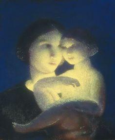 Blue Madonna, oil © 2012 Carl Schmitt Foundation
