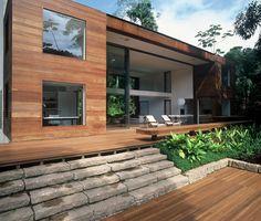 AC Iporanga / Studio Arthur Casas #facade #living #outdoor #patio #yard #green #view