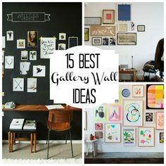 15 Gorgeous Gallery Wall Ideas http://@Emily Schoenfeld Schoenfeld Schoenfeld Lyche if you still need ideas!