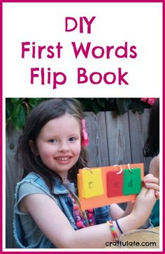 DIY First Words Flip Book by Craftulate