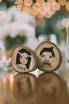 Handmade personalised wooden coasters! What a fun favor idea!
