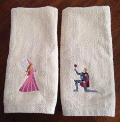 Prince and Princess Bathroom Hand Towels