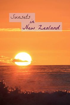 A collection of beautiful sunset photos in New Zealand.