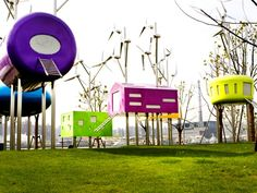 Un parque recreativo en Shanghái que utiliza energía eólica