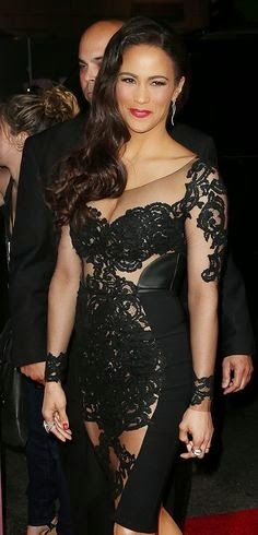 Stunning in sexy sheer,actress Paula Patton and wife of Robin Thicke. Her hair and make-up is beau...