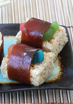 Rice Krispies Sushi Treats – Get out the chopsticks! These gummy-worm-filled Rice Krispies Treats are held together by chewy fruit strips and look just like the real deal.