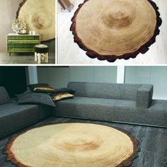 Sliced log rug. My new obsession