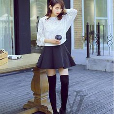 Women's Long Cotton Stockings 3 Solid Colors Fashion Sexy Warm Knit Thigh High over The Knee Socks Stockings For Girls Ladies