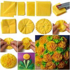 Crepe paper Flower Making
