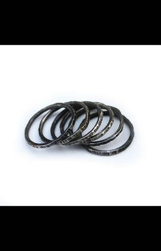 NOCTEX x Hunter Gatherer Chicago   Sterling Silver stacking rings with mixed finishes.