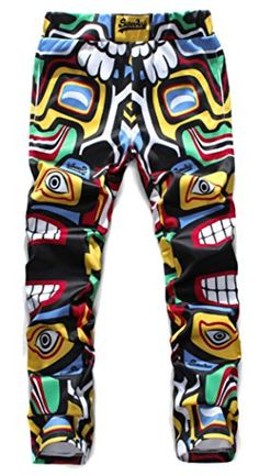Mens Fashion Stretch Waist Drawstring Jogger Pants Colorful W3436 XL Tag * Continue to the product at the image link.