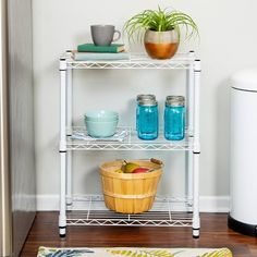 Chic Starter 30 H x 24 W Shelving Unit by Honey Can Do storage-sale from top store White Shelving Unit, Corner Shelving Unit, Steel Shelving, Wire Shelving, Adjustable Shelving, Shelving Units, Ceiling Storage Rack, Steel Storage Rack, Closet Storage