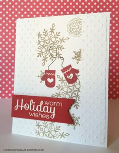 Warm Holiday Wishes #handmadecard. Used #SSSFAVE Big Holiday Wishes and #SSSFAVE Holiday Envelope Sentiment.