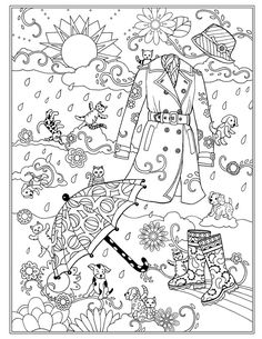 Raining Cats and Dogs ~ Fanciful Fashions by Marjorie Sarnat