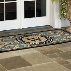 Charmant Hudson Monogrammed Door Mat Inspirational Rubber Entry Door Mats