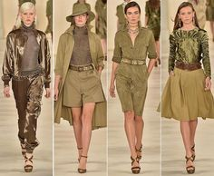 A Safari dress is a classic summer staple. Here's how to style safari dresses to look chic in Safari Outfit Women, Safari Outfits, Safari Dress, Moda Safari, Safari Chic, Safari Theme, Military Inspired Fashion, Military Fashion, Fashion Week 2015