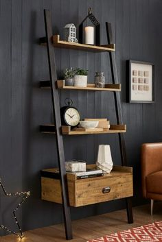 Bookcases & Shelves Corner Shelves & Shelving Units is part of Ladder shelf decor - Arrange your coveted book collection in bookcases & shelves, while accentuating with quirky accessories Next day delivery & free returns available Ladder Shelf Decor, Wooden Ladder Shelf, Corner Ladder Shelf, Corner Shelves Living Room, Bathroom Ladder Shelf, Cheap Home Decor, Diy Home Decor, Bookcase Shelves, Shelving Units