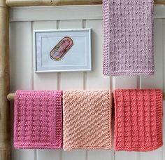 Karklude i Fine Forårsfarver af Susanne Gustafsson - Paris - Loom Knitting, Knitting Stitches, Knitting Patterns Free, Free Knitting, Crochet Patterns, Knitted Washcloths, Crochet Dishcloths, Knitted Blankets, Crochet Kitchen