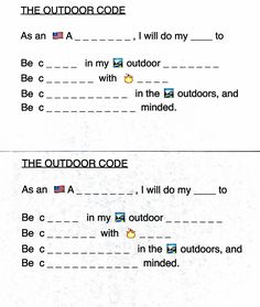 Cub Scout outdoor code #cubscouts Cub Scout outdoor code
