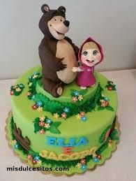 Masha and The bear cake Baby Birthday Cakes, Bear Birthday, Beautiful Cakes, Amazing Cakes, Marsha And The Bear, Fashion Cakes, Bear Cakes, Cake Tutorial, Creative Cakes