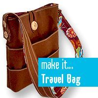 #free pattern: Travel Tote