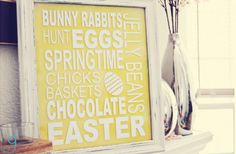 GroopDealz | Easter Subway Art Vinyl Decal - 2 Colors!