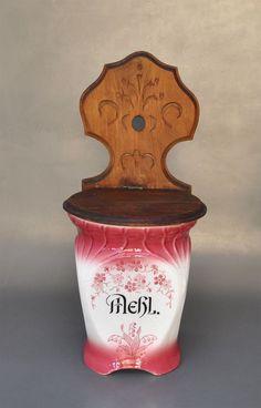 MEHL - Jugendstil Vorratsdose Wandbehälter mit Holzdeckel | Antiquitäten & Kunst, Porzellan & Keramik, Keramik | eBay! Dose, Ebay, Art Nouveau, Kunst