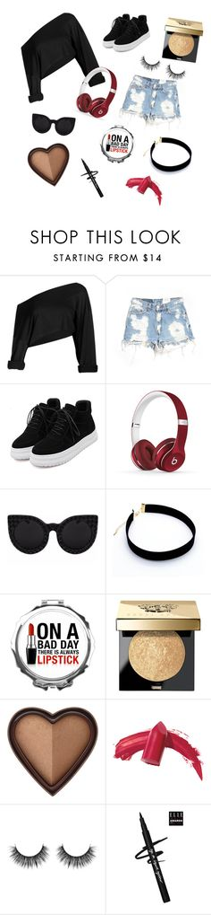 """play hard"" by sgt-bckybarnes ❤ liked on Polyvore featuring Furst of a Kind, Beats by Dr. Dre, Delalle, Bobbi Brown Cosmetics, Too Faced Cosmetics and Elizabeth Arden"