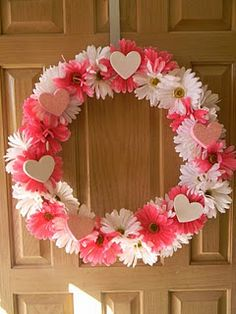 Flower and hearts wreath