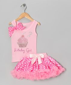 Take a look at this Pink '2 Birthday Girl' Tank & Pettiskirt - Toddler by So Girly & Twirly on #zulily today!