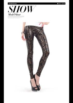 Aliexpress.com : Buy 2015 Fashion Women Pants Adventure Time Fitness Trousers Sexy Slim High Waist Capris Snake Texture Metallic Leggings from Reliable legging thermal suppliers on Hot Genie Authentic Brand Shop | Alibaba Group
