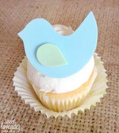 Edible Bird Cupcake Topper