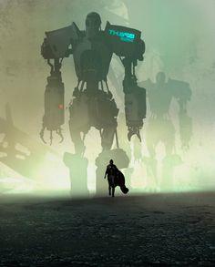 Castles and robots from Peter Popken