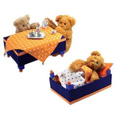"""cute idea for re-purposing those clementine boxes! my girls would love to put their """"babies"""" inside cribs."""