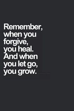 Forgive yourself as well _/ \_