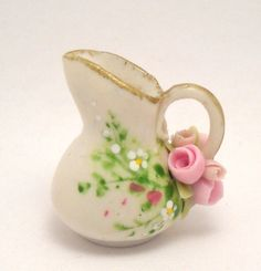 1/12TH scale  romantic chic floral pitcher  BY LORY by 64tnt, €25.00