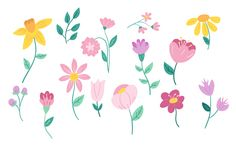 Drawing vector flowers - illustrating simple florals in adobe draw Flower Vector Art, Vector Flowers, Ink Drawings, Easy Drawings, Terra Cotta, Pattern Design, Print Design, Art Tumblr, Art Deco