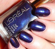 L'Oreal The Mystic's Fortune  #nails #polish #darkblue #loreal - bellashoot.com