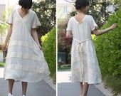 Lovely  Asymmetrical Linen Long Blouse/ 26 Colors. $59.00, via Etsy.