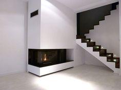 Prosty kominek nowoczesny. Modern fireplace. #KominekNowoczesny
