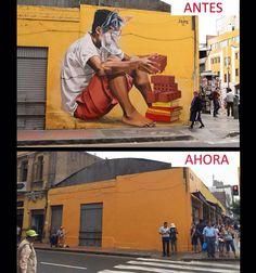 Aquí otro mural borrado con pintura amarilla, cortesía de Castañeda https://www.facebook.com/RIVERAJADE/photos/a.416076978444093.107115.189417924443334/883513348367118/?type=1…