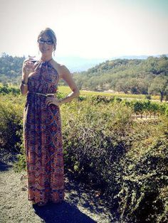 wine tasting outfit for napa. I mean Michigan. Maxi Outfits, Summer Outfits, Cute Outfits, Napa Style, My Style, Wine Tasting Outfit, Fashion Gallery, Dress Me Up, Spring Summer Fashion