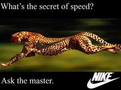 Nike Ad - Cheetah, Logo, Nike, Running