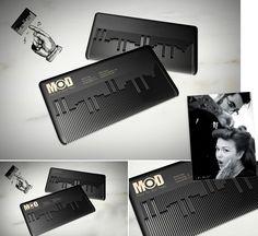 Musical Comb Businesscard. / MODhair Salons. Визитка парикмахерской (01) ••• #Business #Cards