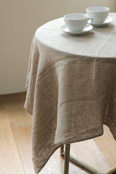 Fog Linen Tablecloth   Natural