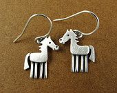 Tiny horse earrings