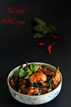 Thai Basil Chicken Wings