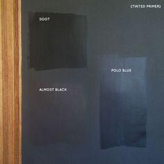 Black Paint Swatches #makingitlovely