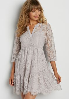 tiered lace peasant dress