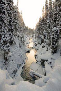 Snow River, British Columbia, Canada photo via channing